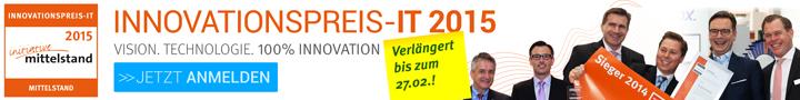 Vision. Technologie. 100% Innovation. Innovationspreis IT 2015. Jetzt Anmelden!