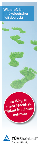 Wie groß ist Ihr ökologischer Fußabdruck? Ihr Weg zu mehr Nachhaltigkeit im Unternehmen. TÜV Rheinland. Genau. Richtig.