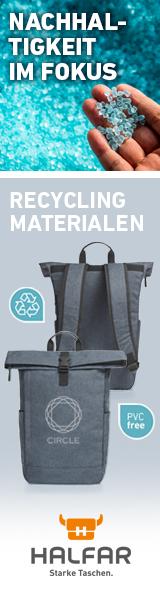 Halfar. Starke Taschen | Nachhaltigkeit im Fokus | Recycling-Materialien