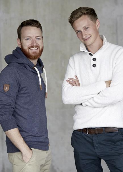Die jungen Gründer Florian Pachaly und Fabian Eckert haben gut lachen: ihre Idee hat eingeschlagen. © RECUP