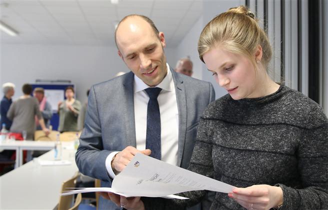 Masterstudenten der FH Münster und Unternehmensvertreter haben gemeinsam in einem Pilotprojekt Gemeinwohlbilanzen erstellt. © FH Münster/Fachbereich Oecotrophologie – Facility Management