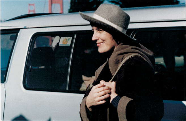 Heffa Schücking im Jahr 1994 in San Francisco zur Verleihung des Goldman-Umweltpreises, den sie damals als erste Deutsche erhielt. Der Goldman-Preis ist der international wichtigste Preis für Graswurzel-Umweltaktivismus. // Foto: privat