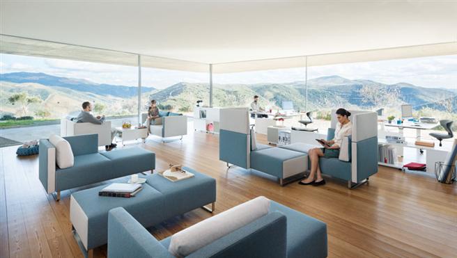 Attraktive, offene Bürolandschaften ermöglichen konzentriertes und schallgeschütztes Arbeiten © Sedus Stoll AG