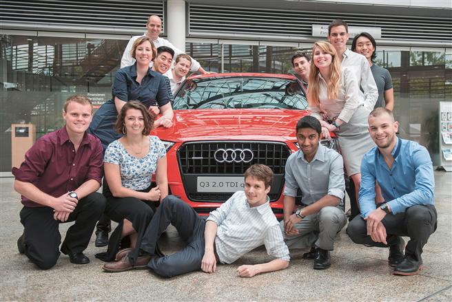 Studenten bei Audi © Audi AG
