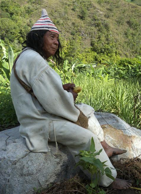 Máma José Gabriel, eines der spirituellen Oberhäupter der Kogi © Oliver Driver