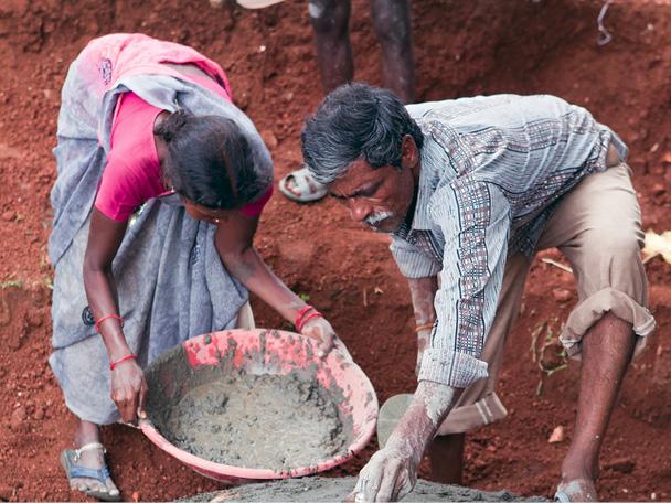 Vorbereitung für den Bau einer lokalen Biogasanlage. © Klima-Kollekte