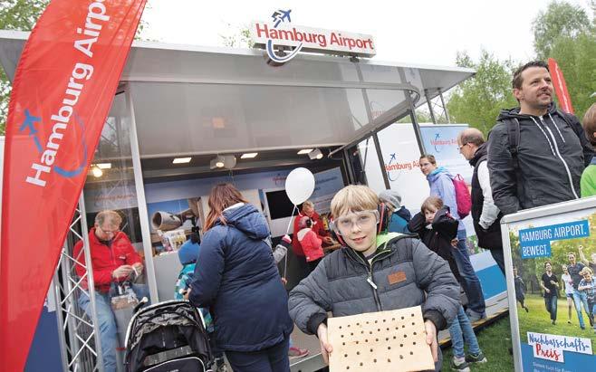Mit der Unterstützung von rund 50 Stadtteilfesten, Kultur- und Sportveranstaltungen fördert der Hamburg Airport das gute Verhältnis mit seinen Nachbarn. © HH Airport / M.Penner