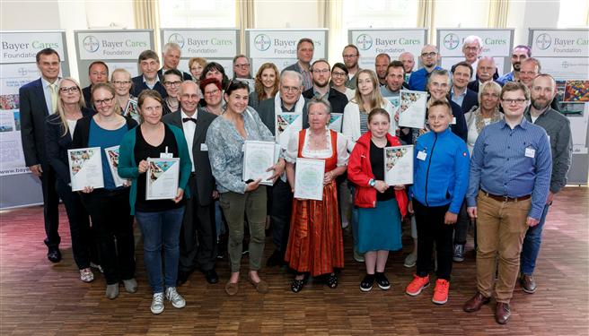 23 innovative Projekte ehrte die Bayer-Stiftung im Rahmen des Wuppertaler Stiftungstages. © Bayer AG
