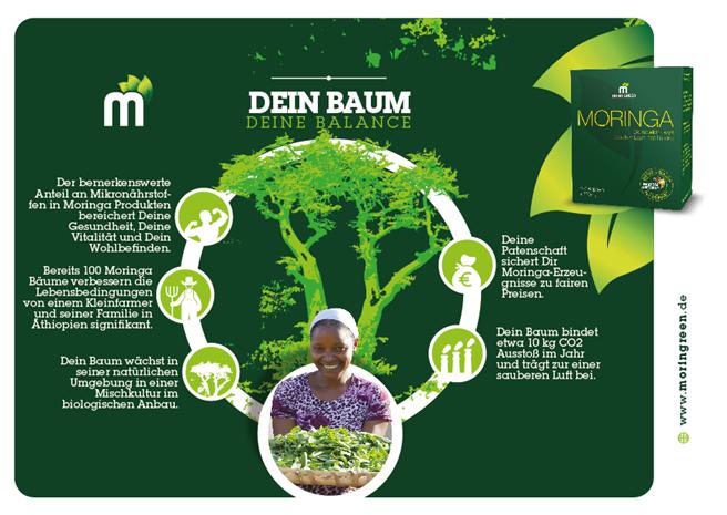 Im Mittelpunkt derCrowdfunding Aktion steht der Moringa Baum. Foto: Moringreen GmbH