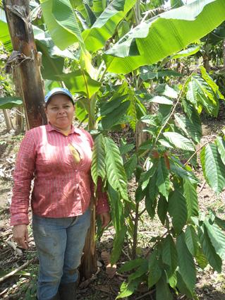 Eine ungewöhnliche Frau: Rosibel Mesis Zeledón baut in Nicaragua nachhaltigen Kakao an. © Ritter Sport