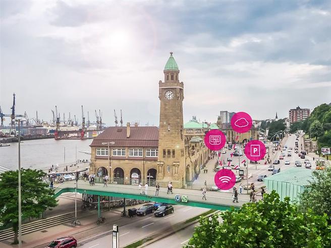Hamburg erhält neues Sensornetz für digitales Parkmanagement. © Deutsche Telekom