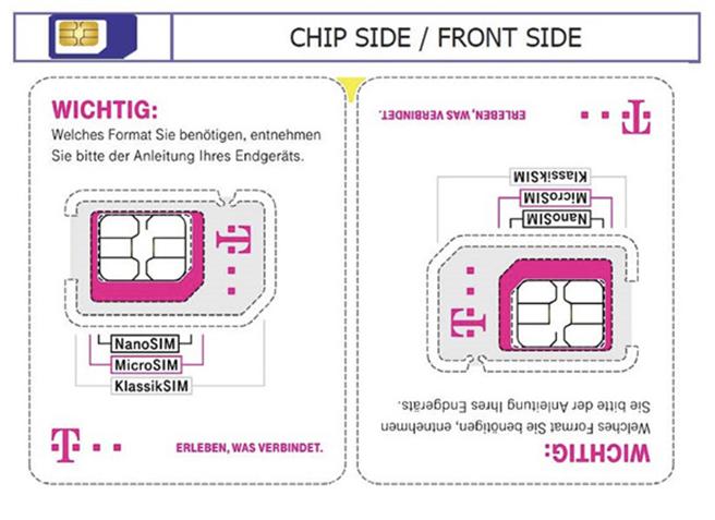 Die Deutsche Telekom verkleinert die SIM-Karte. © Deutsche Telekom AG