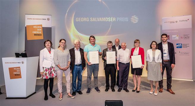 Verleihung des Georg-Salvamoser-Preis 2017 auf der Intersolar in München. Foto: Der Eventfotograf