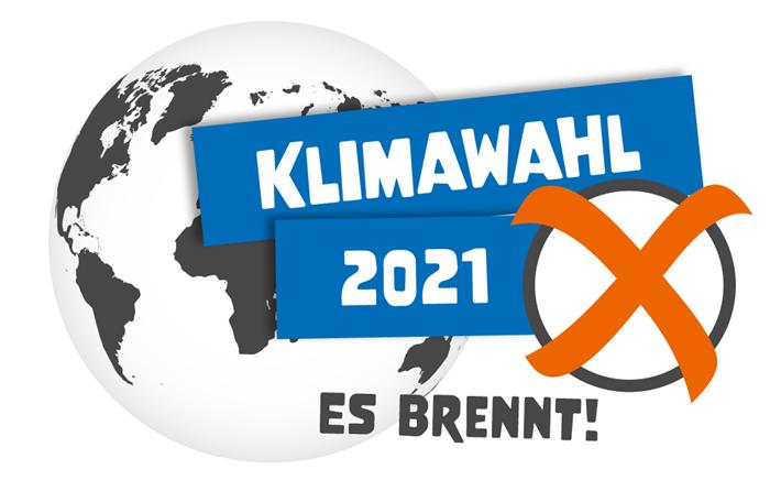 Kampagnenlogo zur Klimawahl 2021