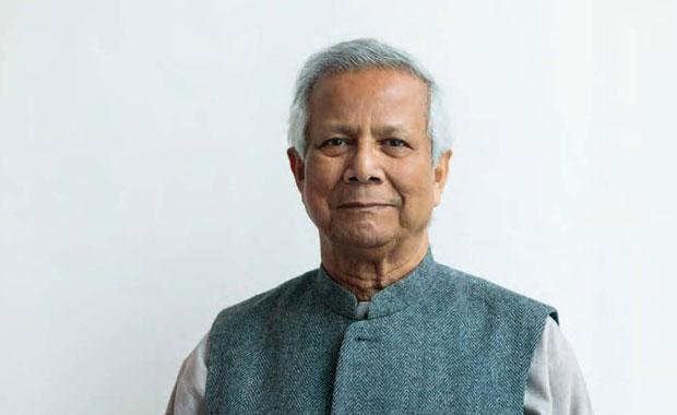 Friedensnobelpreisträger Professor Muhammad Yunus fordert: Keinen Schritt zurück! 'Die drängenden Probleme der Menschheit dürfen durch Corona nicht verdrängt werden'. © Thomas Dashuber