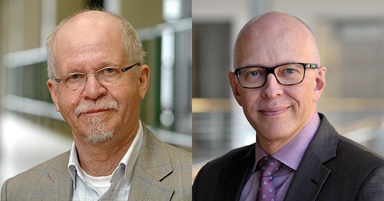 Professor Klaus Klemm (li) und Dr. Ekkehard Winter (re)