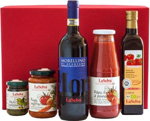 Online können Sie derzeit aus 30 Geschenkpaketen und dazu passende Kartons auswählen. © LaSelva