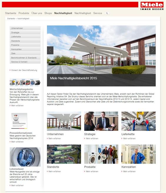 Der Miele Nachhaltigkeitsbericht 2015 ist unter www.miele-nachhaltigkeit.de zu finden. (Foto: Miele)