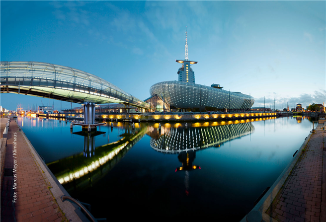 Das Klimahaus in Bremerhaven. Copyright: Marcus Meyer / Klimahaus Bremerhaven 8° Ost