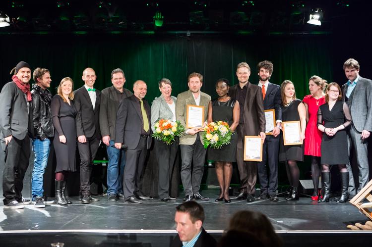 Gewinner der Green Me Filmpreise auf der feierlichen Gala in Berlin. © Lena Siebrasse / Green Me Filmfestival