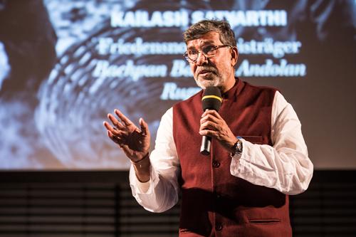 Friedensnobelpreisträger Kailash Satyarthi auf der gestrigen Ashoka-Sozialunternehmerkonferenz (Quelle: Christian Klant)