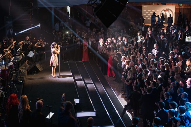 Einer der künstlerischen Höhepunkte beim Deutschen Nachhaltigkeitspreis 2014 war Nelly Furtado. Foto: Dariusz Misztal
