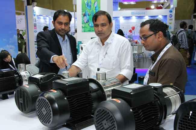 136 Aussteller präsentierten ihre Produkte auf der IFAT India 2015. Foto: Messe München GmbH