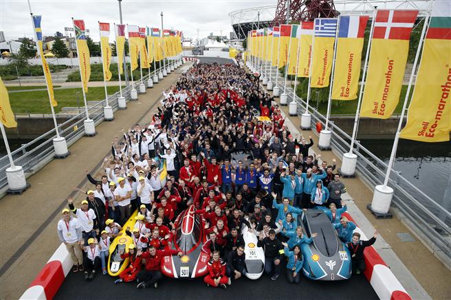 Der Start mit allen Teams. Foto: Shell