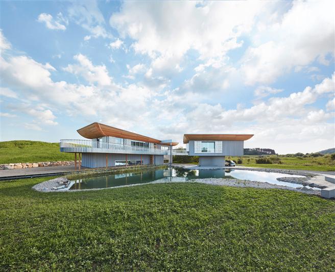 'Haussicht' von Baufritz als konstruktive Herausforderung © Baufritz
