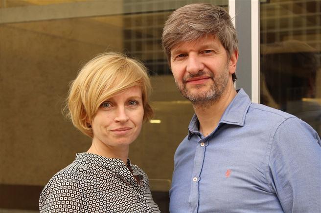 Das Wissenschaftlerpaar Arlt und Riedel wollen die Welt mit Bleistiften vereinen. © manaomea GmbH