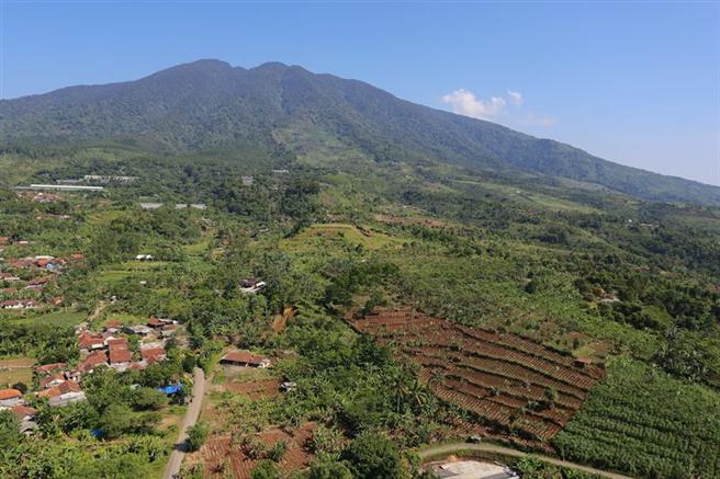Blick über die Landschaft im Halimun Salak Nationalpark, West Java, Indonesien. © GLF