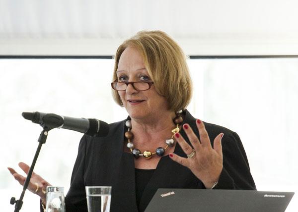 Einer der Höhepunkte auf dem ICG-Gipfel war ein Vortrag der ehemaligen Bundesjustizministerin Sabine Leutheusser-Scharrenberger (FDP), die den Teilnehmern Denkanstöße zur Verbindung von werteorientiertem Handeln und Haltung mit auf den Weg gab.