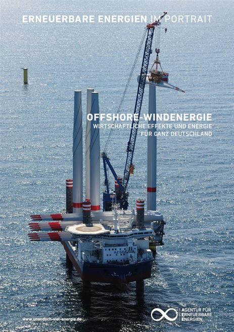 Die Offshore-Windenergie 2016 hat schon 6,6 Prozent der erneuerbaren Stromerzeugung in Deutschland beigesteuert.