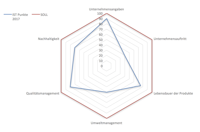 Das Gesamtergebnis wird durch ein Netzdiagramm dargestellt. © IWW