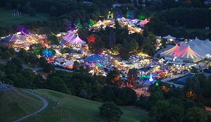 Das Münchner Tollwood Festival gilt als Paradebeispiel nachhaltig organisierte Großveranstaltungen. © Bernd Wackerbauer