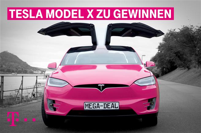 Anlässlich des UN-Weltklimagipfels verlost die Deutsche Telekom einen Tesla © Deutsche Telekom AG