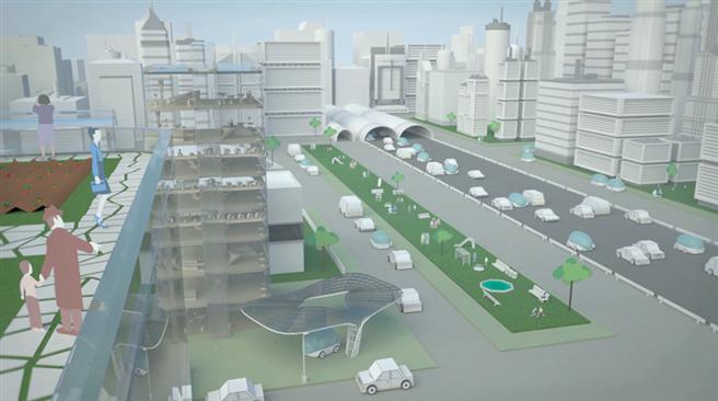 Könnte so die Zukunft unserer Städte aussehen? Die Morgenstadt-Werkstatt bietet Raum für kreative Ideen und Austausch © Foto Fraunhofer IAO