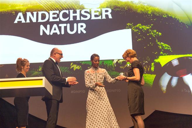 v.l.n.r. Nina Eichinger, Stefan Schulze-Hausmann, Sara Nuru, Barbara Scheitz.