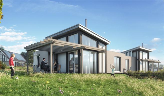 In Landal Mont Royal entstehen 74 energieneutrale Häuser. © Landal GreenParks