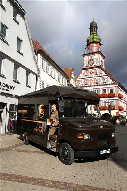 Mit dem 7,5-Tonner liefert UPS seit acht Jahren in Kirchheim unter Teck Pakete aus. © UPS