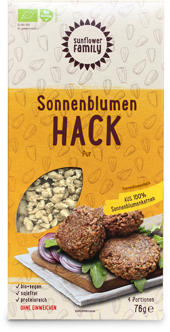 Das Sonnenblumenhack gewinnt den World Innovation Food Award 2018 © SunflowerFamily