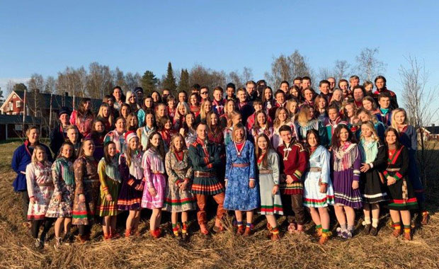 'If we loose the reindeers, the Saami culture will be lost. Many of the Saami youth want to be reindeer herders, but they cannot see a future. This must be urgently addressed for the safety of our generation and the next generations.' Sanna Vannar, President of Sáminuorra, Swedisch Association of Young Saami, taking the European Union to court to increase its 2030 climat target. © People's Climate Case