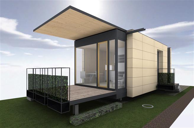 Mit McCube 3.0 werden 'Häuser zum Mitnehmen' völlig neu interpretiert! Der auf vorgefertigten Holzbau spezialisierte Architekt Harald Sauer hat Funktion, Nachhaltigkeit und Design perfekt auf die Anforderungen von zeitgemäßem Wohnen und Bauen abgestimmt. © McCube