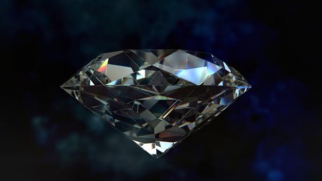 Die Lichtbrechung gibt dem Diamanten sein berühmtes Funkeln. © gr8effect, pixabay.com
