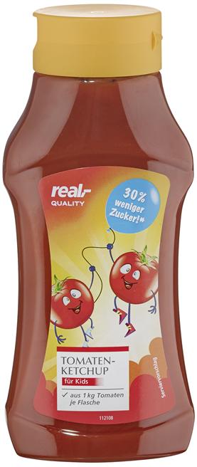 Der Zuckergehalt im real QUALITY Ketchup Kids wurde um 30 Prozent reduziert. © real