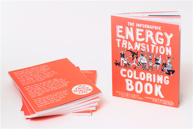 Das Infographic Energy Transition Coloring Book. © Ellery Studio for Creative Strategy