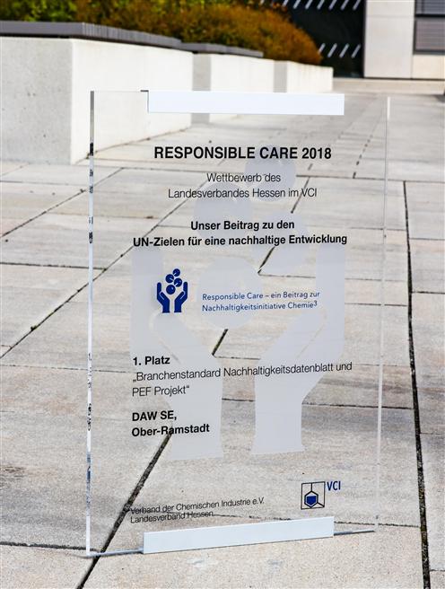 Der Responsible Care-Wettbewerb des VCI trägt zur kontinuierlichen Verbesserung von Gesundheitsschutz, Umweltschutz und Sicherheit in den Unternehmen der chemischen Industrie bei. © DAW SE