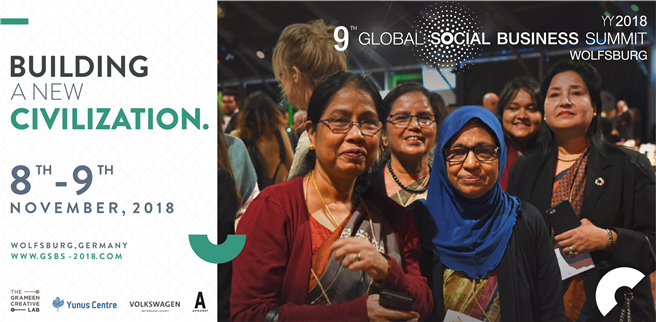 Vom 6. bis 9. November 2018 findet der 9. Global Social Business Summit statt. © The Grameen Creative Lab GmbH