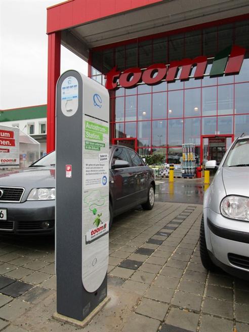 Ab dem 10. Dezember bietet toom seinen Kunden an fünf ausgewählten Standorten Elektro-Transporter an. Copyright: toom