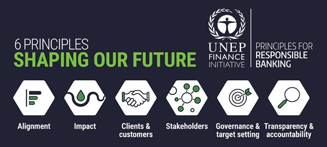 Die 6 Prinzipien bieten einen ersten globalen Rahmen, der die Integration von Nachhaltigkeit in allen Geschäftsbereichen ermöglichen soll. © UNEP Finance Initiative